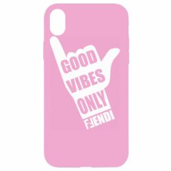 Чехол для iPhone XR Good vibes only Fendi