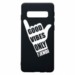 Чохол для Samsung S10 Good vibes only Fendi
