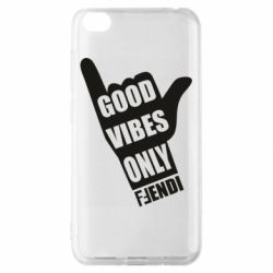 Чехол для Xiaomi Redmi Go Good vibes only Fendi