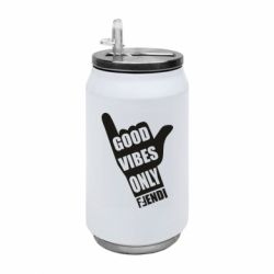 Термобанка 350ml Good vibes only Fendi
