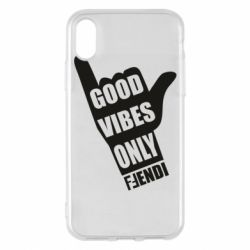 Чехол для iPhone X/Xs Good vibes only Fendi