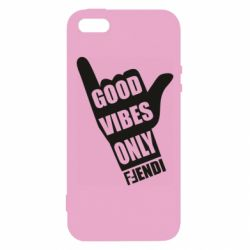 Чехол для iPhone5/5S/SE Good vibes only Fendi