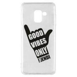 Чехол для Samsung A8 2018 Good vibes only Fendi