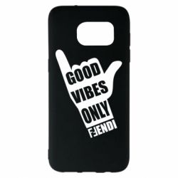 Чехол для Samsung S7 EDGE Good vibes only Fendi
