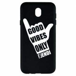 Чехол для Samsung J7 2017 Good vibes only Fendi