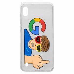 Чохол для Samsung A10 Google guy Fuck You