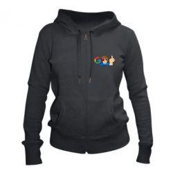 Жіноча толстовка на блискавці Google guy Fuck You