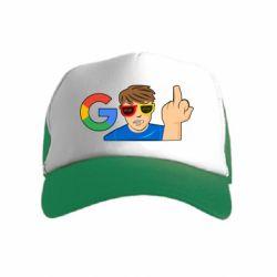 Дитяча кепка-тракер Google guy Fuck You