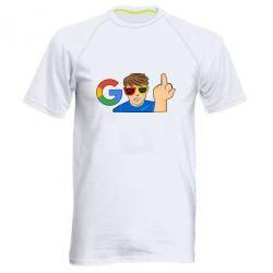 Купить Мужская спортивная футболка Google guy Fuck You, FatLine