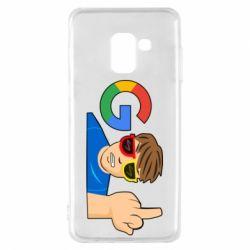 Чохол для Samsung A8 2018 Google guy Fuck You