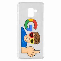 Чохол для Samsung A8+ 2018 Google guy Fuck You