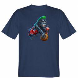 Мужская футболка Gorilla and basketball ball