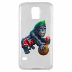 Чехол для Samsung S5 Gorilla and basketball ball
