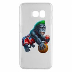 Чохол для Samsung S6 EDGE Gorilla and basketball ball