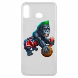 Чохол для Samsung A6s Gorilla and basketball ball