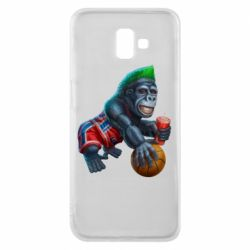 Чехол для Samsung J6 Plus 2018 Gorilla and basketball ball