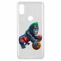 Чехол для Xiaomi Mi Mix 3 Gorilla and basketball ball