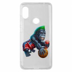Чехол для Xiaomi Redmi Note 6 Pro Gorilla and basketball ball