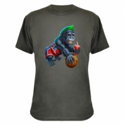 Камуфляжна футболка Gorilla and basketball ball