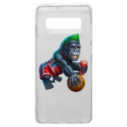 Чохол для Samsung S10+ Gorilla and basketball ball