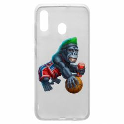 Чохол для Samsung A30 Gorilla and basketball ball