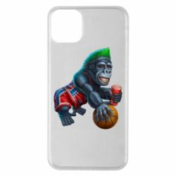 Чохол для iPhone 11 Pro Max Gorilla and basketball ball