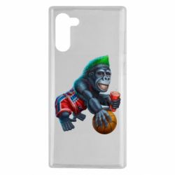 Чохол для Samsung Note 10 Gorilla and basketball ball