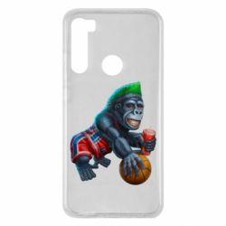 Чехол для Xiaomi Redmi Note 8 Gorilla and basketball ball