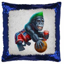 Подушка-хамелеон Gorilla and basketball ball