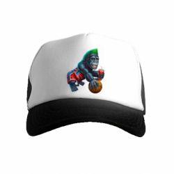 Детская кепка-тракер Gorilla and basketball ball