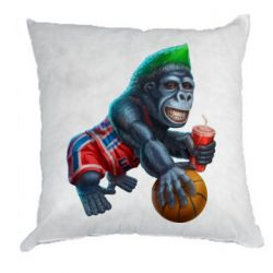 Подушка Gorilla and basketball ball