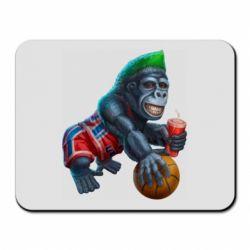 Коврик для мыши Gorilla and basketball ball