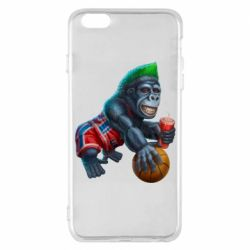 Чохол для iPhone 6 Plus/6S Plus Gorilla and basketball ball