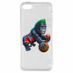 Чохол для iphone 5/5S/SE Gorilla and basketball ball