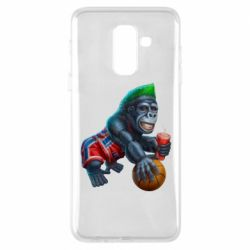 Чохол для Samsung A6+ 2018 Gorilla and basketball ball