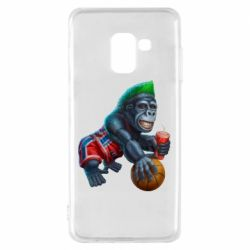 Чохол для Samsung A8 2018 Gorilla and basketball ball