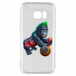 Чехол для Samsung S7 Gorilla and basketball ball