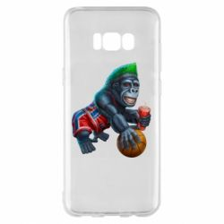 Чохол для Samsung S8+ Gorilla and basketball ball