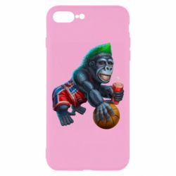 Чехол для iPhone 8 Plus Gorilla and basketball ball