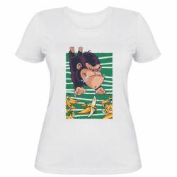 Женская футболка Горилла банана