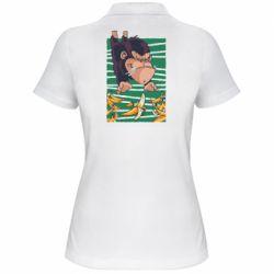 Женская футболка поло Горилла банана