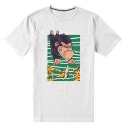 Мужская стрейчевая футболка Горилла банана