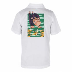Детская футболка поло Горилла банана