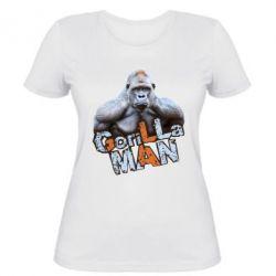 Женская футболка Горилла MAN