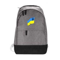 Городской рюкзак Флаг Украины с Гербом - FatLine