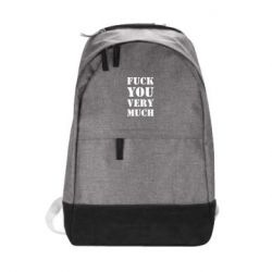 Городской рюкзак Fuck you very much
