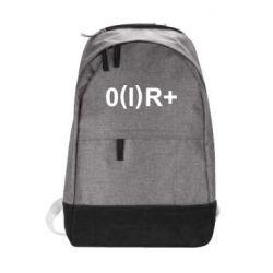 Городской рюкзак Группа крови (1)0+