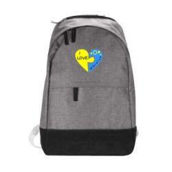 Городской рюкзак I love Ukraine пазлы - FatLine