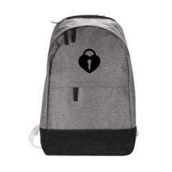 Городской рюкзак Сердце со скважиной
