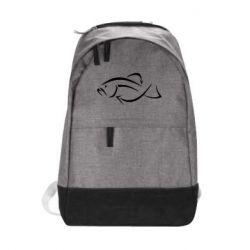 Городской рюкзак Силуэт рыбы - FatLine